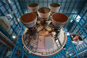 Saturn V Stage 2 S-II, Kennedy Space Center, Saturn V Center, März 2009