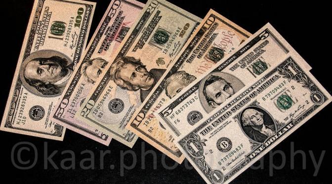 Exchanged a few Dollars!