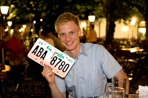 Me and the new Georgia license plate clock