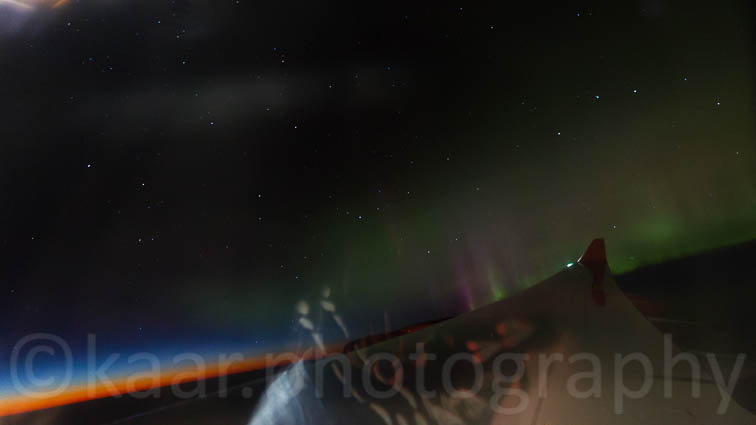 Aurora Borealis above Labrador Sea