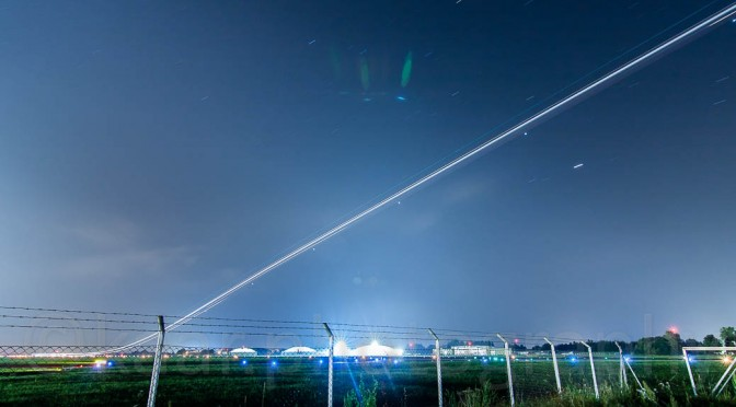 Time Exposure of Aircraft