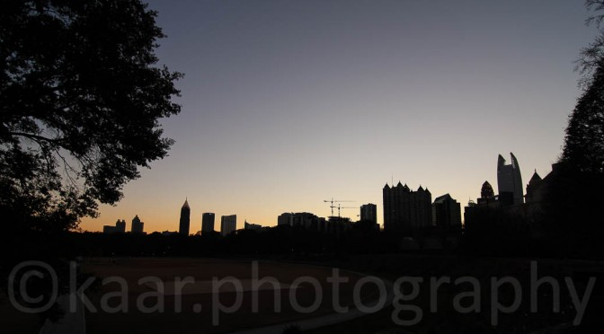 Atlanta Midtown Skyline from Piedmont Park